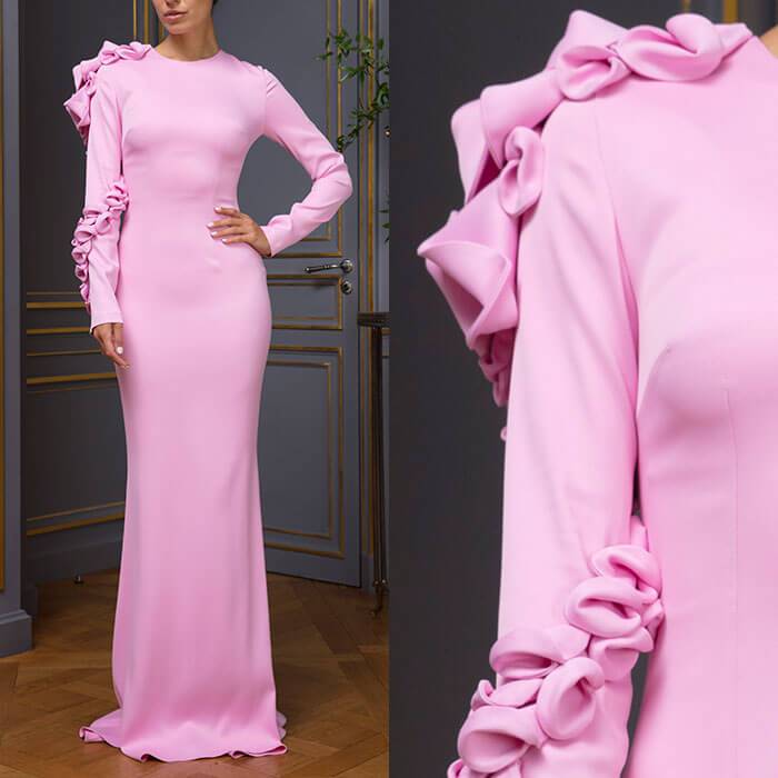 Figure-hugging column gown