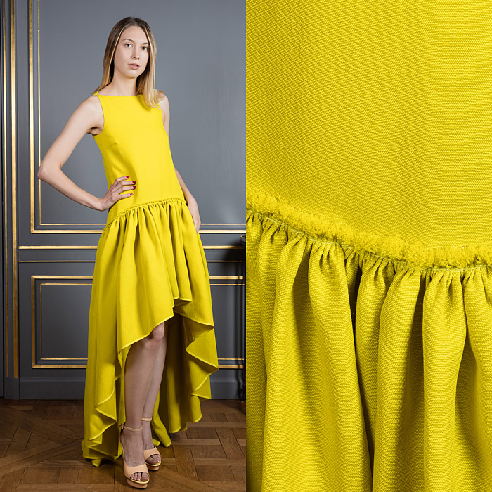 Yellow flamenco inspired dress