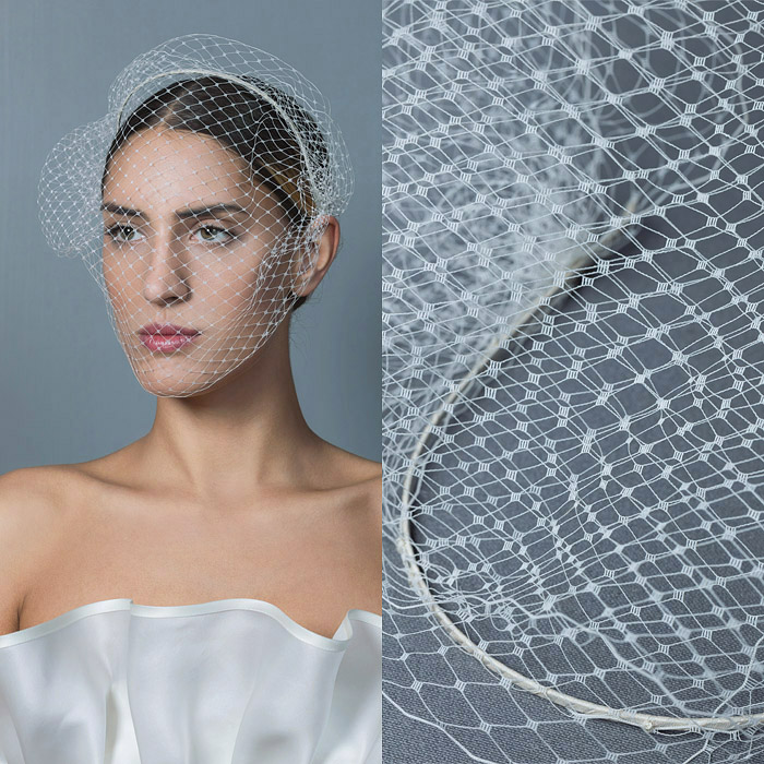 WHITE HEAD BAND WITH VEIL