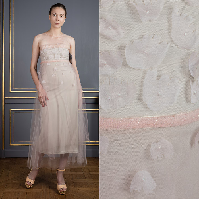 Lightweight tulle ivory colored dress